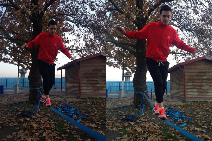Ασκήσεις ισορροπίας σε ιμάντα